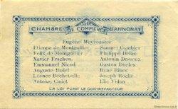 50 Centimes FRANCE régionalisme et divers ANNONAY 1914 JP.011.07 TTB à SUP