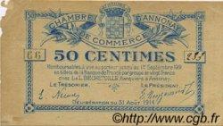 50 Centimes FRANCE régionalisme et divers ANNONAY 1914 JP.011.07 TB