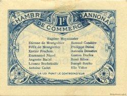 1 Franc FRANCE régionalisme et divers ANNONAY 1914 JP.011.08 TTB à SUP