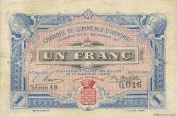 1 Franc FRANCE régionalisme et divers ANNONAY 1917 JP.011.12 TTB à SUP