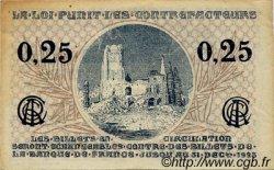 25 Centimes FRANCE régionalisme et divers Arras 1918 JP.013.03 TTB à SUP