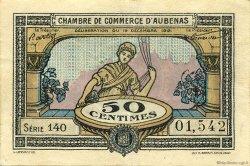 50 Centimes FRANCE régionalisme et divers Aubenas 1921 JP.014.01 TTB à SUP