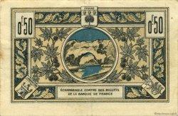 50 Centimes FRANCE régionalisme et divers AUBENAS 1921 JP.014.01 TB