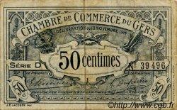 50 Centimes FRANCE régionalisme et divers AUCH 1914 JP.015.01 TB