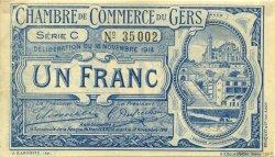 1 Franc FRANCE régionalisme et divers AUCH 1914 JP.015.03 TTB à SUP