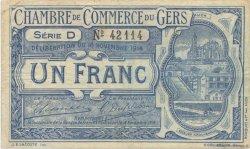 1 Franc FRANCE régionalisme et divers AUCH 1914 JP.015.03 TB