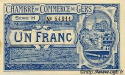 1 Franc FRANCE régionalisme et divers Auch 1914 JP.015.07 TTB à SUP