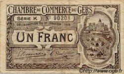 1 Franc FRANCE régionalisme et divers Auch 1918 JP.015.14 TB