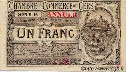 1 Franc FRANCE régionalisme et divers AUCH 1918 JP.015.15 TTB à SUP
