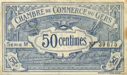50 Centimes FRANCE régionalisme et divers AUCH 1920 JP.015.18 TTB à SUP