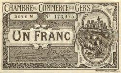 1 Franc FRANCE régionalisme et divers Auch 1920 JP.015.19 SPL à NEUF
