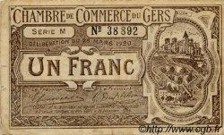1 Franc FRANCE régionalisme et divers Auch 1920 JP.015.19 TB