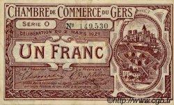 1 Franc FRANCE régionalisme et divers AUCH 1921 JP.015.26 TTB à SUP