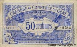 50 Centimes FRANCE régionalisme et divers Auch 1921 JP.015.27 TTB à SUP