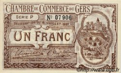 1 Franc FRANCE régionalisme et divers Auch 1921 JP.015.28 SPL à NEUF