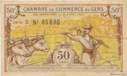 50 Centimes FRANCE régionalisme et divers AUCH 1922 JP.015.34