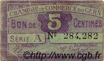 5 Centimes FRANCE régionalisme et divers AUCH 1918 JP.015.38 TB