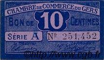 10 Centimes FRANCE régionalisme et divers Auch 1918 JP.015.39 SPL à NEUF