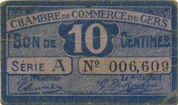 10 Centimes FRANCE régionalisme et divers Auch 1918 JP.015.39 TB