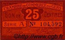 25 Centimes FRANCE régionalisme et divers AUCH 1918 JP.015.40 SPL à NEUF