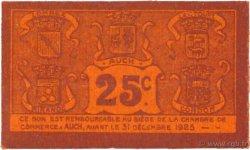 25 Centimes FRANCE régionalisme et divers AUCH 1918 JP.015.44 TTB à SUP