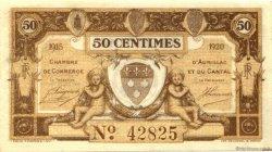 50 Centimes FRANCE régionalisme et divers AURILLAC 1915 JP.016.01 SPL à NEUF