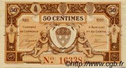 50 Centimes FRANCE régionalisme et divers Aurillac 1915 JP.016.01 TTB à SUP