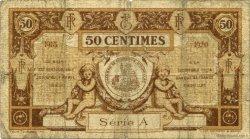 50 Centimes FRANCE régionalisme et divers AURILLAC 1915 JP.016.01 TB