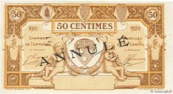 50 Centimes FRANCE régionalisme et divers AURILLAC 1915 JP.016.03 SPL à NEUF