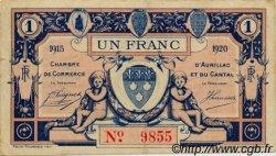 1 Franc FRANCE régionalisme et divers AURILLAC 1915 JP.016.04 TTB à SUP