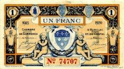 1 Franc FRANCE régionalisme et divers Aurillac 1915 JP.016.08 TTB à SUP