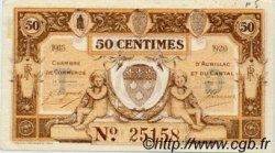 50 Centimes FRANCE régionalisme et divers Aurillac 1915 JP.016.09 SPL à NEUF