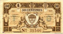 50 Centimes FRANCE régionalisme et divers Aurillac 1915 JP.016.09 TTB à SUP