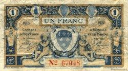 1 Franc FRANCE régionalisme et divers Aurillac 1915 JP.016.10 TB