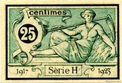 25 Centimes FRANCE régionalisme et divers AURILLAC 1917 JP.016.11 SPL à NEUF