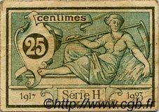 25 Centimes FRANCE régionalisme et divers Aurillac 1917 JP.016.11 TB