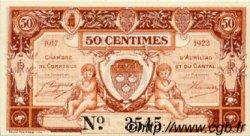 50 Centimes FRANCE régionalisme et divers Aurillac 1917 JP.016.12 SPL à NEUF