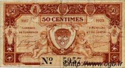 50 Centimes FRANCE régionalisme et divers AURILLAC 1917 JP.016.12 TB