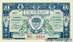 1 Franc FRANCE régionalisme et divers Aurillac 1917 JP.016.13 SPL à NEUF