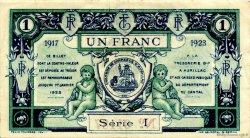 1 Franc FRANCE régionalisme et divers Aurillac 1917 JP.016.13 TTB à SUP