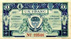 1 Franc FRANCE régionalisme et divers AURILLAC 1917 JP.016.13 TB