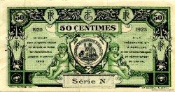 50 Centimes FRANCE régionalisme et divers AURILLAC 1920 JP.016.14 TTB à SUP
