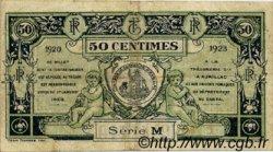 50 Centimes FRANCE régionalisme et divers AURILLAC 1920 JP.016.14 TB