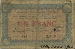 1 Franc FRANCE régionalisme et divers AUXERRE 1915 JP.017.01 TB