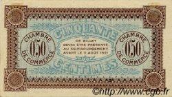 50 Centimes FRANCE régionalisme et divers AUXERRE 1916 JP.017.11 TTB à SUP