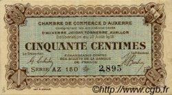 50 Centimes FRANCE régionalisme et divers AUXERRE 1916 JP.017.12 TTB à SUP