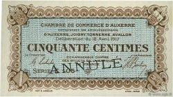 50 Centimes FRANCE régionalisme et divers Auxerre 1917 JP.017.15 SPL à NEUF