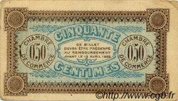 50 Centimes FRANCE régionalisme et divers AUXERRE 1917 JP.017.16 TTB à SUP