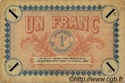 1 Franc FRANCE régionalisme et divers AUXERRE 1917 JP.017.17 TTB à SUP