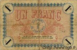 1 Franc FRANCE régionalisme et divers AUXERRE 1917 JP.017.17 TB